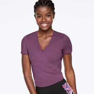 PINK Ultimate Wrap Top in Mauve Mist